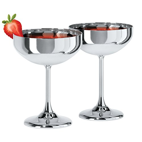 Oggi 7448.0 ss Set of 2 Coupe Cocktail Glasses (10 oz), - Cocktail Ounce 10
