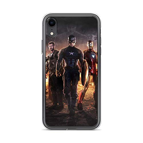iPhone XR Pure Anti-Shock Case Avengerss Endgame Ready to Fight Thor Captain Shield America Iron-Man Stan Lee Movie Shield Comic Superhero (Guardians Of The Galaxy Captain America Shield)