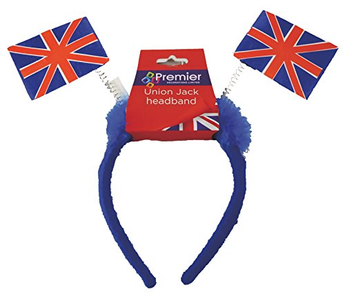 Union Jack Headband With Union Jack Flags - One Size Fits All]()
