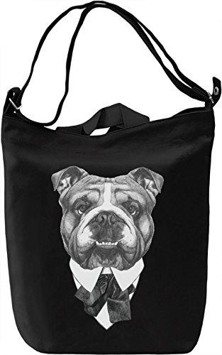 English bulldog karl Borsa Giornaliera Canvas Canvas Day Bag  100% Premium Cotton Canvas  DTG Printing 