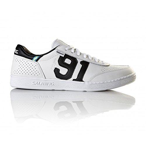 Chaussures Salming 91 Goalie Cuir Blanc