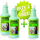 Bio Clean: Hard Water Stain Remover: Buy 2 Cleaners (4Ooz,Large) get 3rd Bottle FREE! & get 2 Free Magic Cloths (Bundle) Remove tough Hard Water Stains caused by mineral deposits acid rain alkali