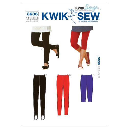 Kwik Sew K3636 Leggings Sewing Pattern, Size XS-S-M-L-XL by KWIK-SEW PATTERNS