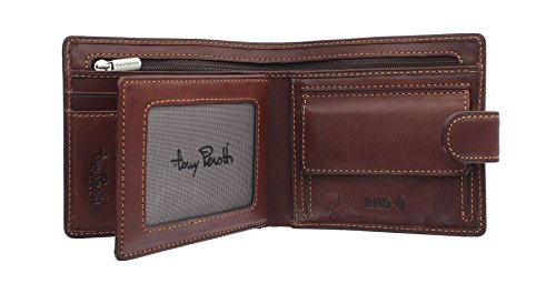 Fold Protection Full Perotti 1004 Wallet Bi Brown Tony Grain With 1 Leather RFID Tan Xwdzn
