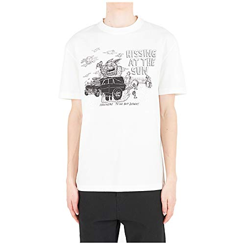 McQ Alexander McQueen Men t-Shirt Hissing at The Sun Ivory M