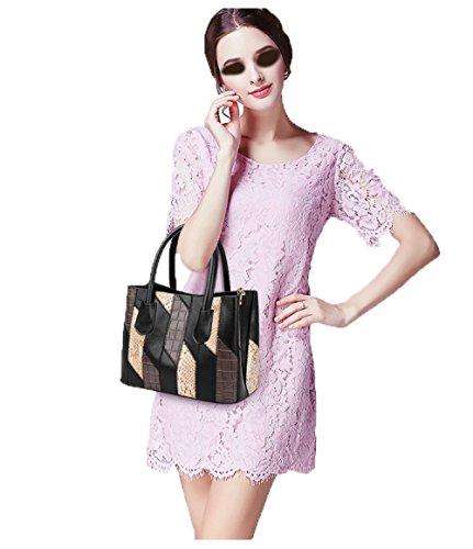 Mujer Black Bolso Bolso Bolso Edad KYOKIM Hombro De De De Ola Grande Mediana La Casual Bolso De 2018 Femenina De Nueva La Afilado Costura La Manera La F6AqTEA