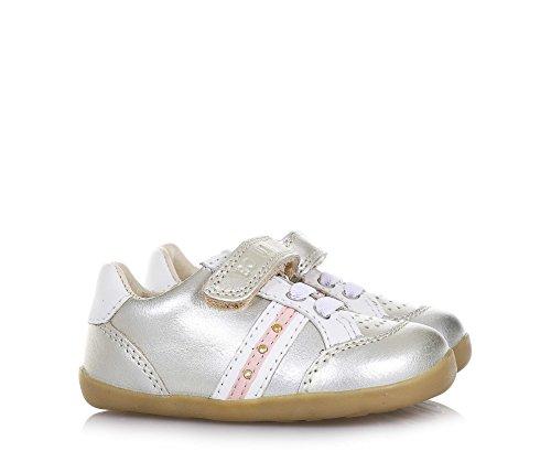 BOBUX - Chaussure Step Up Trackside dorée en cuir, made in New Zealand, avec fermeture en velcro, lacets élastiques, bébé Fille