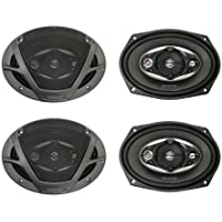 4) NEW Kenwood KFC-6983PS 6x9 1800 Watt 4-Way Car Audio Speakers KFC6983PS
