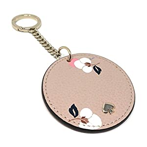 Kate Spade New York Key Chain Fob Purse Charm Leather Pink Multi, Small