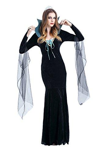 Dark Assassin Costume (Women's Evil Queen Adult Costume Black)