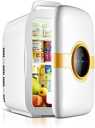 ミニ冷蔵庫 冷温庫 冷蔵庫 小型 カー冷蔵庫、カーホームデュアル使用20Lシングル、デュアルコア機械CNCバージョンミニ冷蔵庫、クーラーとウォーマーする記憶果物、野菜、ドリンク (Color : Dual-core CNC)