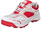 Best Cricket Shoes - GBG Men`s Cricket Shoes for Batsman 5050-White-Red-7 Review