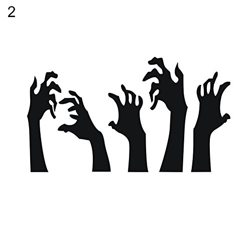 xxiaoTHAWxe Halloween Witch Blood Hands Wall Sticker Party Indoor Decal Home Decoration - -