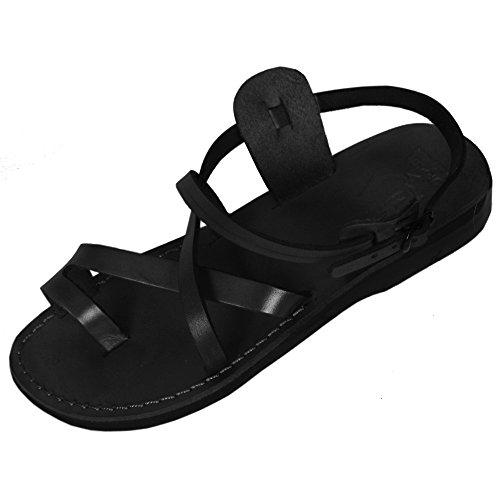 Cuir Noir#906 Jesus romain Sandales-taille 35–46 de l'Union européenne