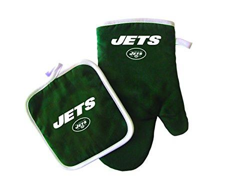 NFL New York Jets Logo Oven Mitt & Pot Holder, One Size, (New York Jets Kitchen)