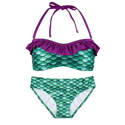 Bandeau Bikini Set, New Celtic Green Top, New Celtic Green Bottoms, Girls Medium ()