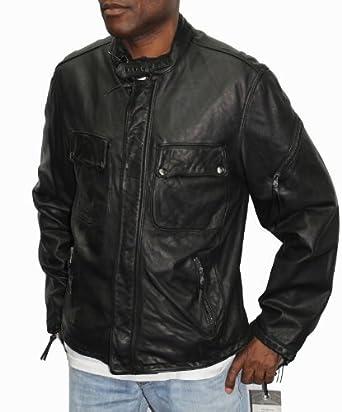 Amazon.com: Rogue Bike Leather Jacket-Black-M: Clothing