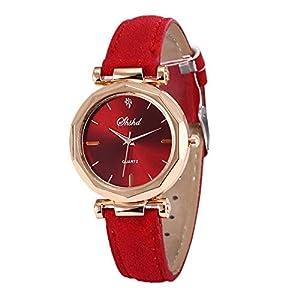 Classic Watch, Toamen Geneva Leather Analog Dial Quartz Sport Wrist Watch