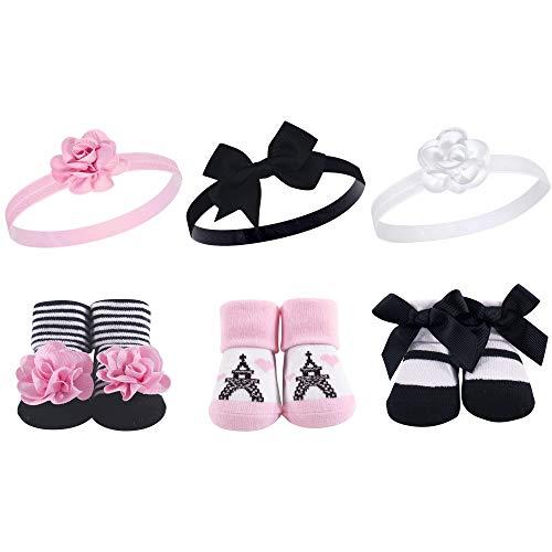 Hudson Baby Unisex Baby Headband and Socks Gift Set