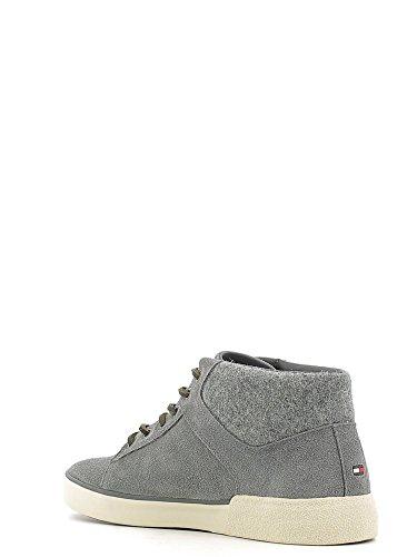 Tommy Hilfiger - Zapatillas para deportes de exterior para hombre gris acero 40 acero