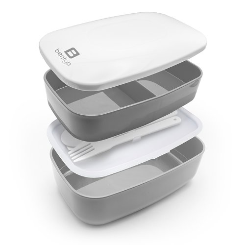 Bentgo All-in-One Stackable Lunch/Bento Box, Grey by Bentgo (Image #1)