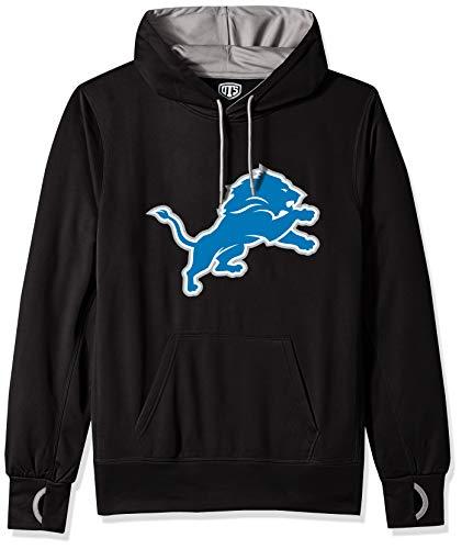 Detroit Lions Mens Sweatshirts - NFL Detroit Lions Men's OTS Hoodie Pullover, Logo, Large