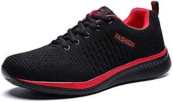 [Fainyearn] スニーカー メンズ レディース ランニングシューズ おしゃれ 運動靴 スポーツシューズ 超軽量 ジョギング カジュアル トレーニングシューズ アウトドア クッション性 ウォーキング 通学 通勤 日常着用 黒