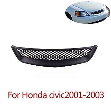 Eleganantamazing - Funda Protectora para Rejilla de Aire de admisión Profesional ABS para Honda Civic 01-03: Amazon.es: Coche y moto