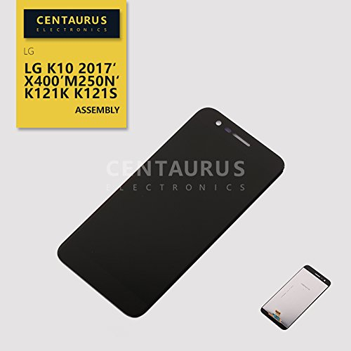 Assembly for LG K20 Plus 2017 Harmony MP260 TP260 TP260BK M257 K10 (2017) M250N M250DS MS250 MS250N MS250K X400 K121K K121S 5.3 LCD Display Touch Screen Digitizer Full Replacement Black (No Frame)