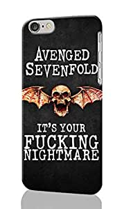 iPhone 6 Plus 3D Case - Avenged Sevenfold Logo Patterned Beauty Skin Hard 3d Case Cover for Apple iPhone 6 Plus 5.5