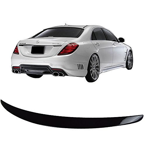 Pre-painted Trunk Spoiler Fits 2014-2018 Benz W222 S Class | Factory Style ABS Painted#040 Black Rear Tail Lip Deck Boot Wing By IKON MOTORSPORTS