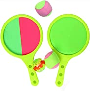 Paddle Catch Ball Racket Set Sport Game Toys Toss Set Disc Paddle Game Sticky Ball, Toss and Catch Game Set, 4