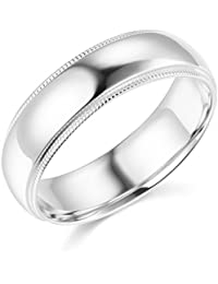 Mens 14k Yellow OR White Gold Solid 6mm COMFORT FIT Milgrain Traditional Wedding Band
