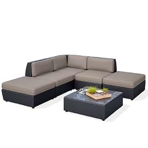 CorLiving pps-607-z Seattle curvado (Chaise Lounge seccionales de patio