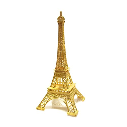 Gold Metal Eiffel Tower centerpiece or cake topper silver gold bronze black colors (gold) (15