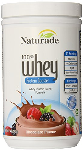 Naturade 100 Whey Protein Booster, Chocolate Flavor, 14-Ounces Pack of 2