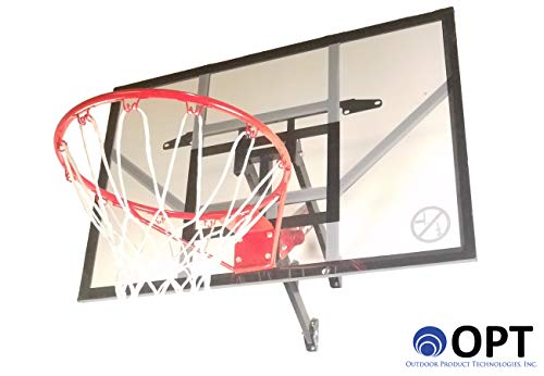 Trampoline Pro / Outdoor Product Tech. 46-inch Wall Mount Basketball Hoop | All Hardware Included & Easy 20 to 30 Minute Install | 3 Different Adjustment Positions | [Lifetime Parts Warranty] (Tech Basketball)
