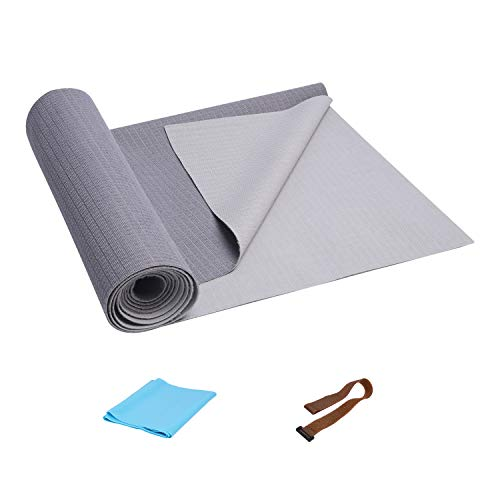 FrenzyBird 1mm Travel Yoga Mat/Towel with Mat Bind and Elastic String
