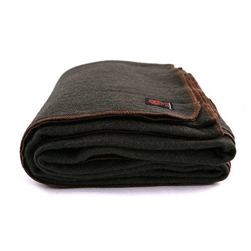 "Arcturus™ 80% Heavy Military Wool Blanket 4+ lbs, Warm, 64"" x 88"""
