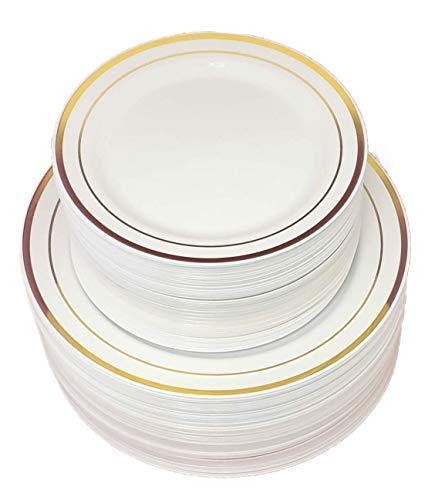 Disposable Plastic Plates - 120 Pack - 60 x 10.25