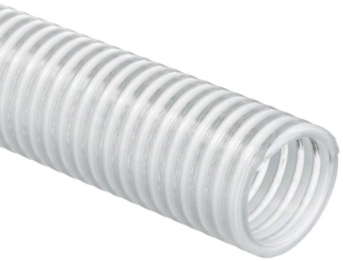 - Unisource 1500 Clear PVC Water Suction/Discharge Hose, 70 psi Maximum Pressure, 100' Length, 1-1/2