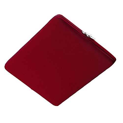 liner package SODIAL inch Korean Style Portable Zipper Soft Sleeve Laptop Pouch Bag for Notebook Computer Case Wine Red