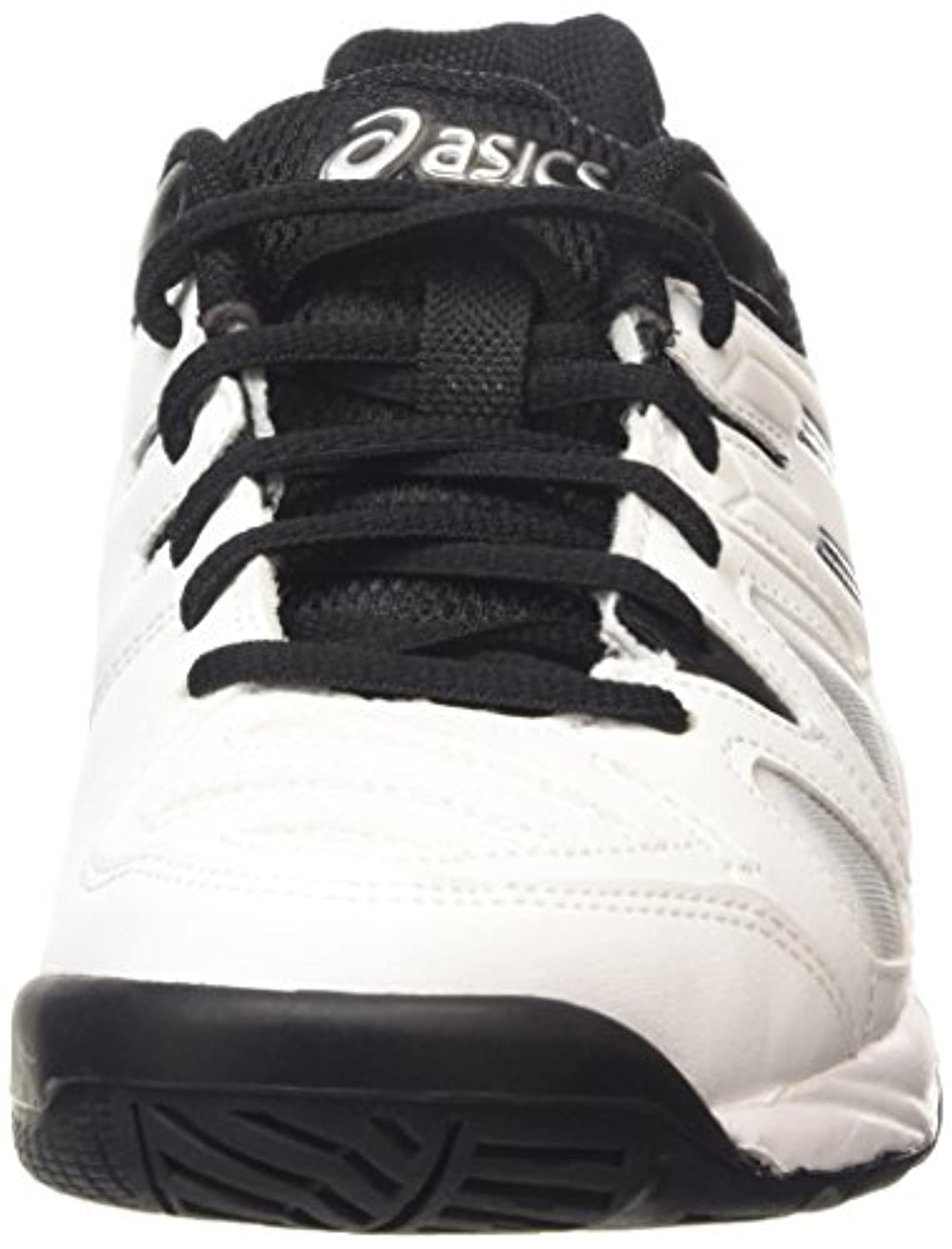 ASICS Gel-Game 5 Gs, Unisex Kids' Tennis Shoes, White (White/Black/Silver 0190), 1 UK (33 1/2 EU)