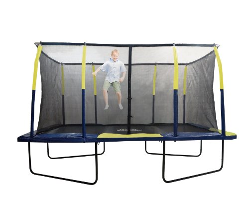 Upper Bounce Easy Assemble Spacious Rectangular Trampoline with Fiber Flex Enclosure Feature, 9 x 15-Feet by Upper Bounce (Image #5)