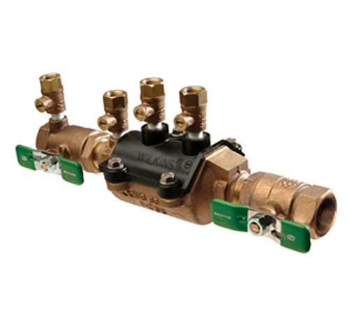 Wilkins 1-350XLFT Double Check Lead-Free Composite Vessel Fast Test Cocks Valve Assembly, 1