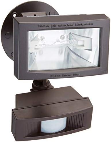 Nuvo SF76 505 Mini Halogen Floodlight with Motion Sensor, Bronze