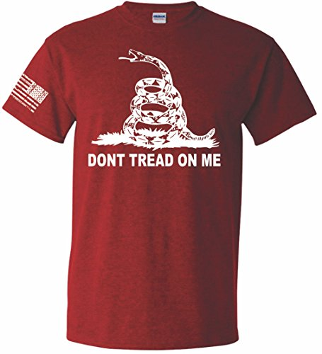 Patriot Apparel Don't Tread On Me Orig T-Shirt (3X-Large, Cherry Red)