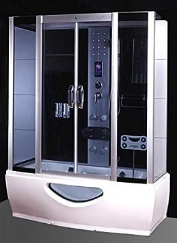 Cabina hidromasaje con bañera de baño 167 x 85 con sauna cromoterapia: Amazon.es: Bricolaje y herramientas