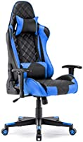 Gaming Chair Racing Office Chair High Back Computer Desk Chair PU Leather Chair Executive and Ergonomic Swivel Chair with...