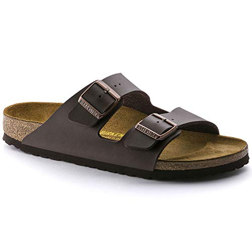 Birkenstock 51703: Narrow Arizona Birko-Flor Dark Brown Sandals (38 N EU) Birkenstock Arizona Birko Flor Sandal